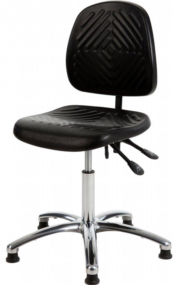 Productiestoel GMS160 voor zwaar  productiewerk met PU zit en rug | comfortabele zitting en goedkope prijs (1)