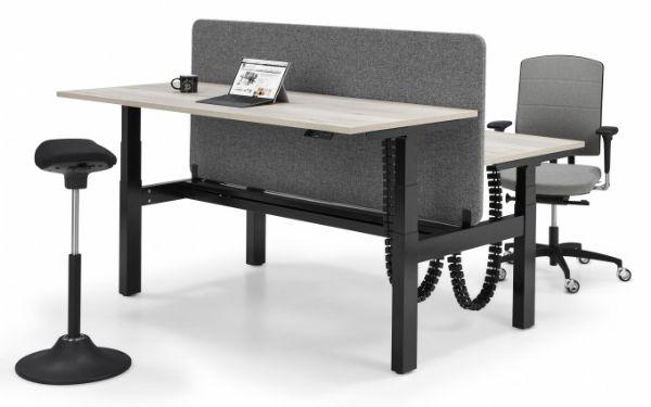 Zit-sta duo werkplek bench Flex 3 elektrisch project bureau (1)