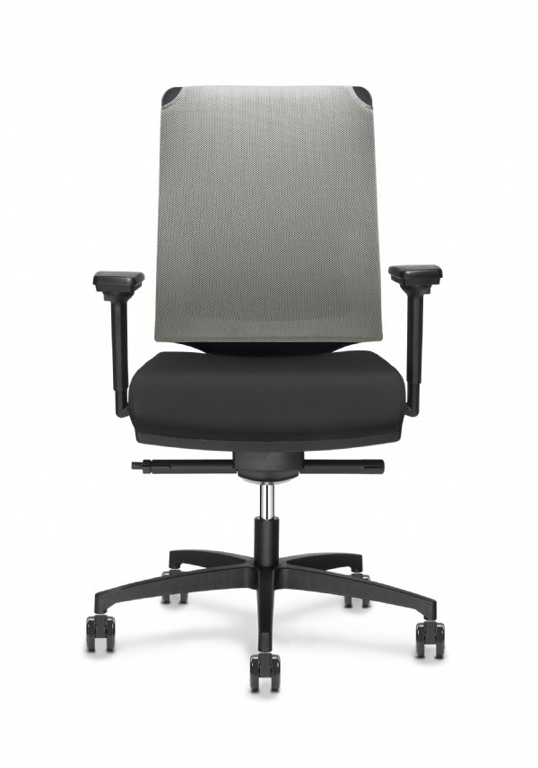 Leaf bureaustoel met MESH RR rugbespanning en voor 98%  recyclebaar (1)