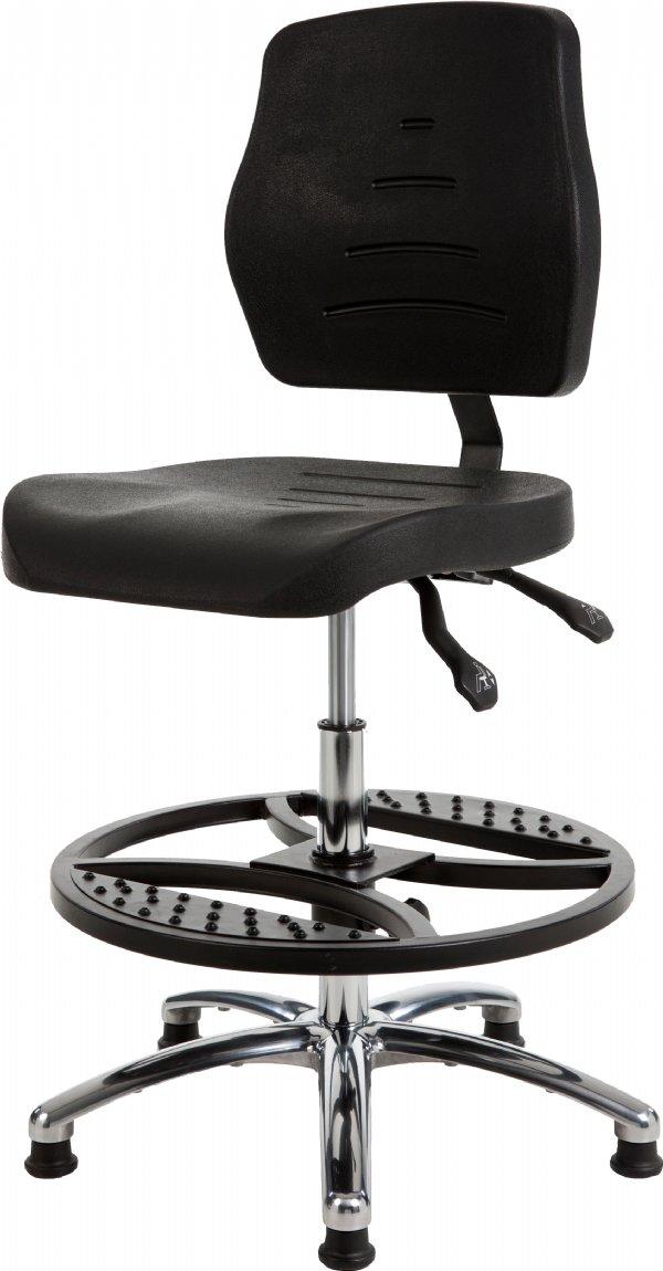 Ergonomsiche hoge productiestoel MAX267 met zachte PUR zit en rug | levering o.a. in Veenendaal, Deventer, Kampen, Bussum en Delft (1)
