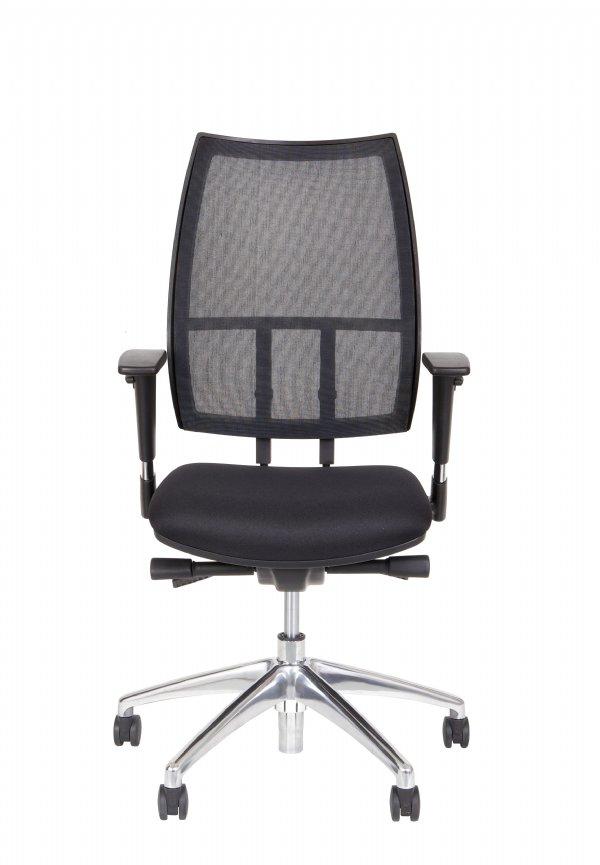 Voordelige kantoorstoel Polaris zwart met netweave rug van Sitlife (1)