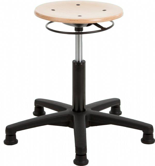 Taboeretkruk RH 160  met beuken houten zitting voor ergonomisch zitten (1)