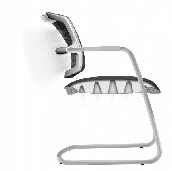 Vergaderstoel PK comfort air met mesh rug en gestoffeerde zitting voor optimaal comfortabel zitten (1)