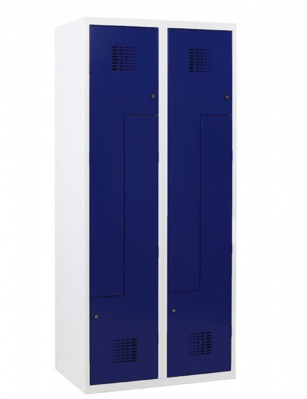 Voordelige Z-Garderobekast 2 kolommen 400mm breed en 4 deuren in diverse Ral kleuren leverbaar (1)