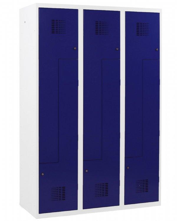 Z-garderobekast 3 kolommen 400mm breed en 6 deuren voor veilig opruimen van kleding en persoonlijke spullen (1)