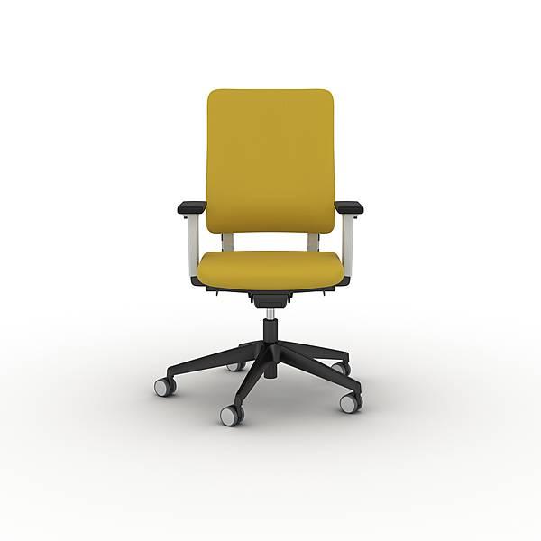 Goedkope kantoorstoel Drumback Viasit telegrijs rugleuning (1)