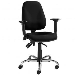 Voordelige kantoorstoel ASTA met chromen onderstel en armleggers (1)