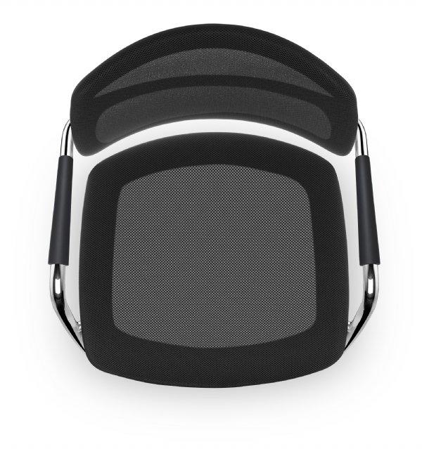 Het nieuwe zitten doe je op de bijzetstoel PK met mesh bekleding en armleggers (1)