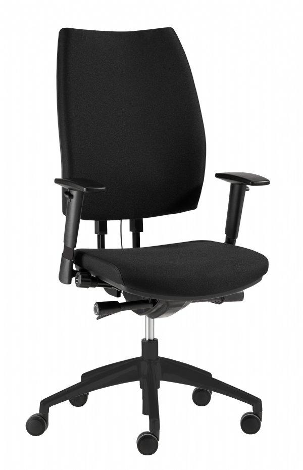 Goede kantoorstoel model Metis van sitlife in zwart met diverse instel mogelijkheden (1)
