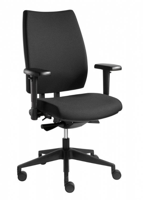 NPR1813 kantoorstoel model Pandora van Sitlife met zwarte bekleding en 5 jaar garantie (1)