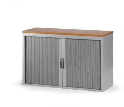 roldeurkast 74x120x45cm aluminium ral 9006