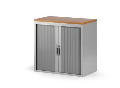 Roldeurkast 74x80x45cm aluminium ral 9006