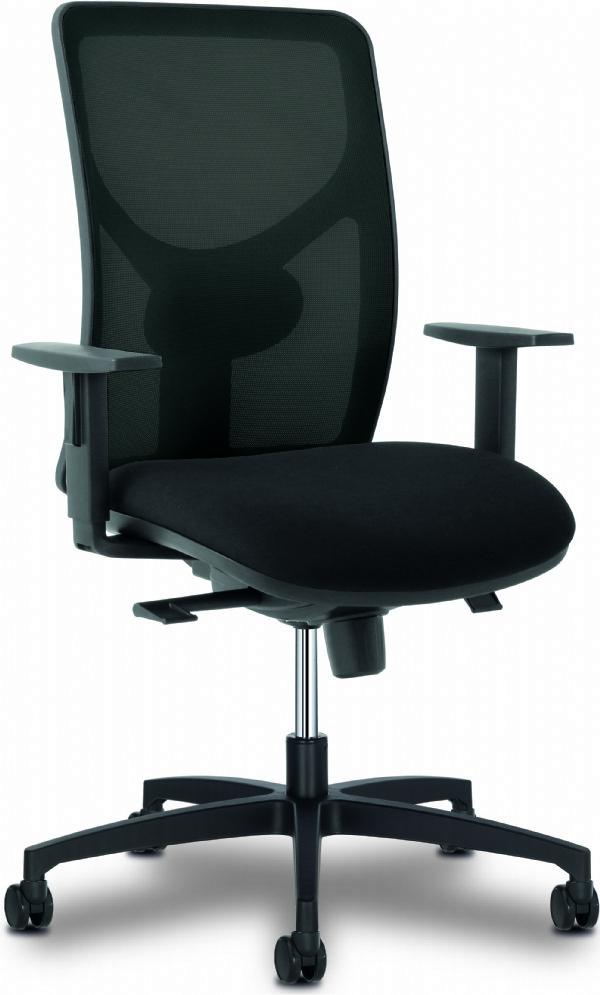 Bureaustoel SIT 1 met mesh rug en armleggers (1)